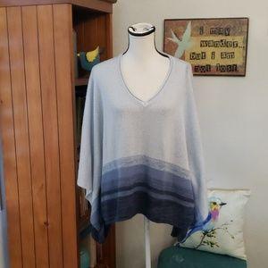 SONOMA Blue Ombre Poncho Sweater size L/XL